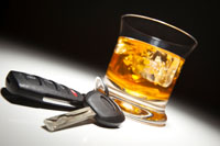 Image of alcohol and keys leading to a Reno drunk driving accident